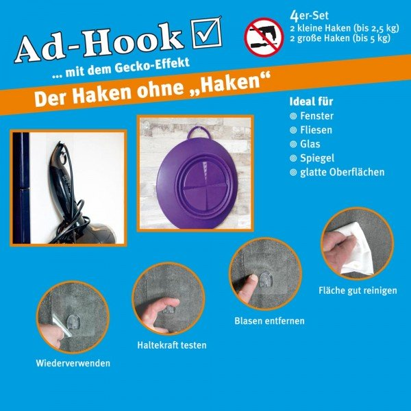 Ad-Hook Haken 4er-Set